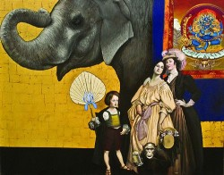 elephant and george washington by mark thompson