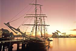 Tall Ship Sydney Opera House Sydney Harbour