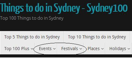 Sydney Events and festival links